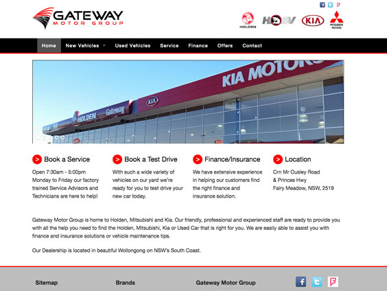 Gateway Motor Group Website